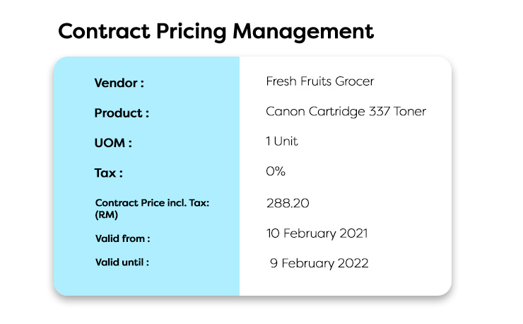 contract pricing management